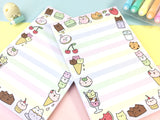 Kawaii Kitty Dessert Notepad