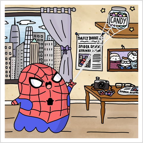 Spider Spooky! ~ Kawaii Spider-Man Art Print
