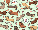 Wiener Dog Wonderland Art Print