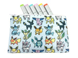 Eeveelotion! Pokemon Doodle - Gamer Zipper Pouch