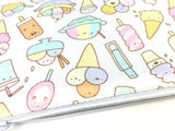 I Love Ice Cream! - Kawaii Doodle Zipper Pouch