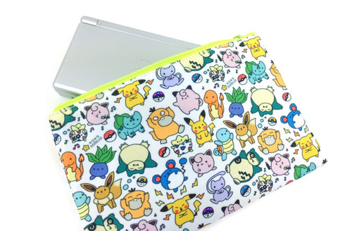 Kawaii Pokemon Doodle - Gamer Zipper Pouch - Fits a Nintendo 3DS XL or PSP