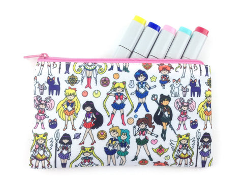 Sailor Moon Doodle Zipper Pouch