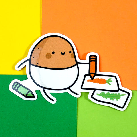 Doodling Baby Potato Sticker
