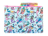 Magical Mermaids! Big Zipper Pouch