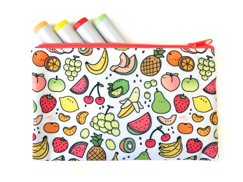 Juicy Fruits - Kawaii Doodle Zipper Pouch