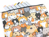 Cats, Kitties and a Spy! Bigger Doodle Zipper Pouch