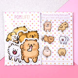 Pom Life! Kawaii Pomeranian Sticker Set
