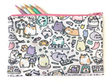Artsy Cats Zipper Pouch - Medium