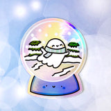 Spooky Snow Globe - Holographic Sticker