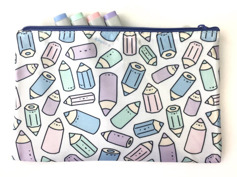 Pencil Party Zipper Pouch - Medium