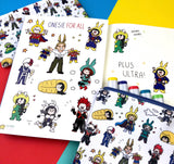Onesie For All! Kawaii My Hero Academia Vinyl Sticker Sheet A5