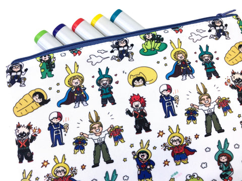 Onesie For All! Bigger BNHA Doodle Pouch