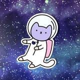 Major Tomcat - Kawaii Space Kitty Sticker
