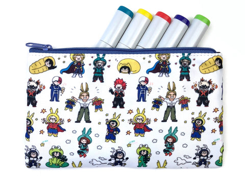 Onesie For All! Kawaii BNHA Doodle Pouch