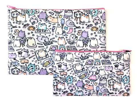 Bigger Artsy Cats Zipper Pouch
