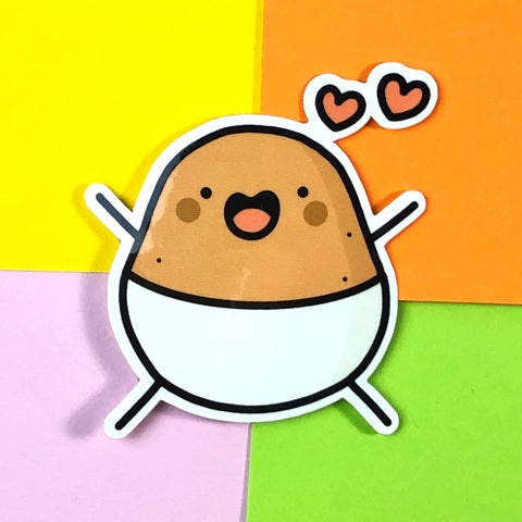 Happy Baby Potato Sticker