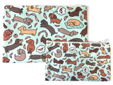 Wiener Dog Wonderland Zipper Pouch - Large