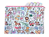 Bigger Animals with Scarves Cute Winter Animals Pouch