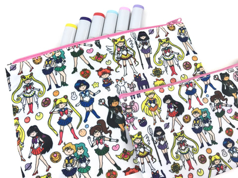 Bigger Sailor Moon Doodle Zipper Pouch