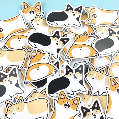 New Corgilicious Corgi Sticker Set - 4 Cute Stickers