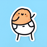 Dancing Baby Potato Sticker