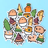 Baby Potato and Friends! Flake Sticker Pack