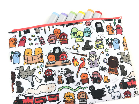 Bigger Chibi Harry Potter Doodle Zipper Pouch