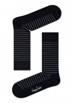 Happy Socks - Thin Stripe Black - Gifted Design - Perth