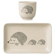 Bloomingville hedgehog plate and cup Gifted Design Perth