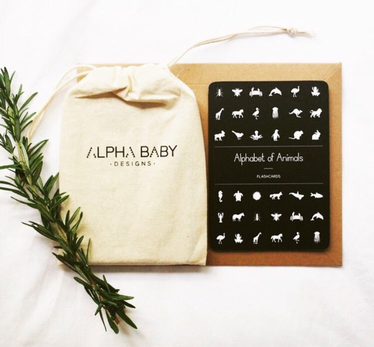 Alpha Baby Designs Alphabet Cards Gifted Design Gift Boxes Perth