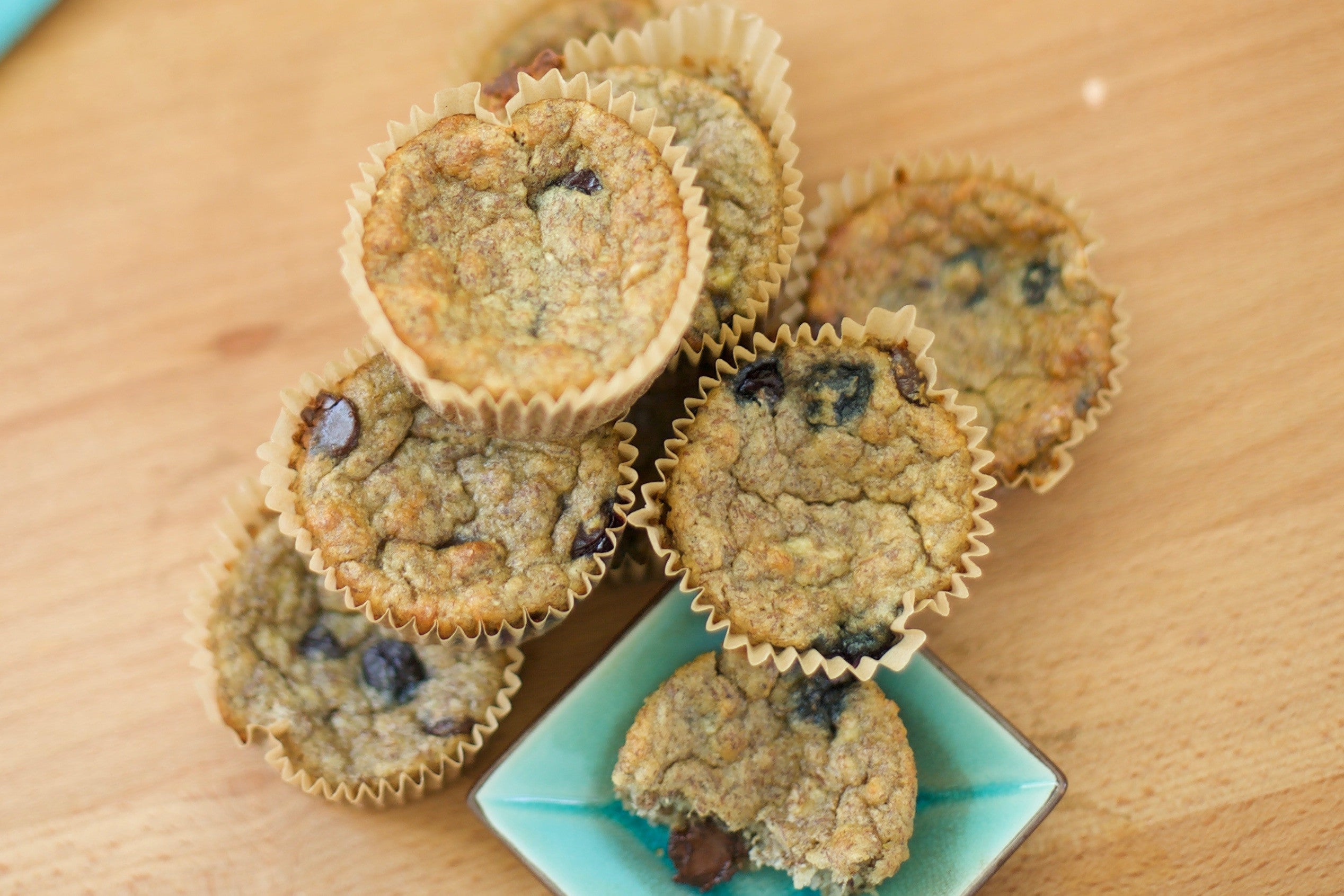 Nutrient Dense Blueberry Chocolate Chip Banana Muffins (Gluten Free!)
