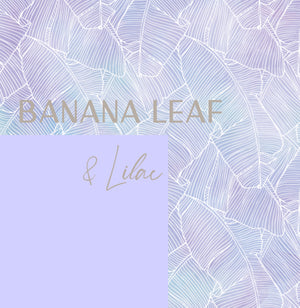 Mona Crop Top| Banana Leaf + Lilac