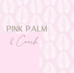 Mona Crop Top| Pink Palm + Conch
