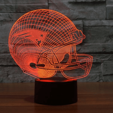 New England Patriots NFL 3D LED Lamp LEDMiracles