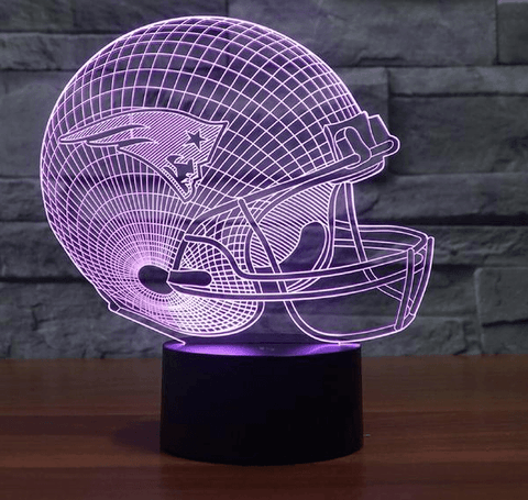 Image of New England Patriots NFL 3D LED Lamp LEDMiracles