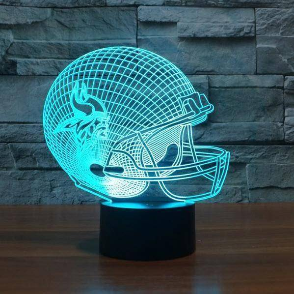 Minnesota Vikings NFL 3D LED Lamp LEDMiracles