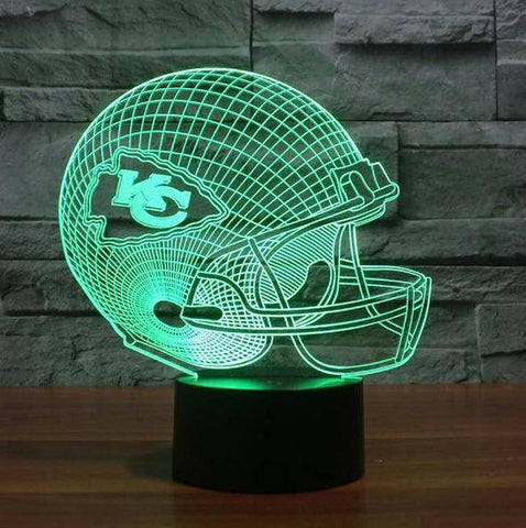 Kansas City Chiefs NFL 3D LED Lamp LEDMiracles