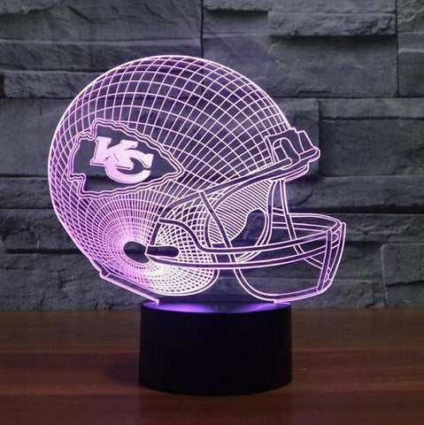 Image of Kansas City Chiefs NFL 3D LED Lamp LEDMiracles