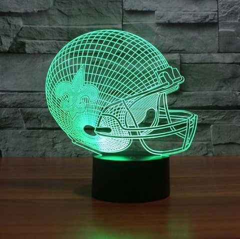 Image of New Orleans Saints NFL 3D LED Lamp LEDMiracles