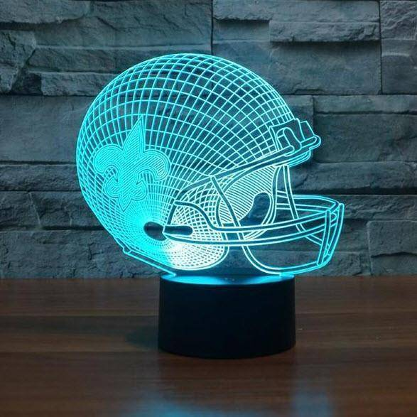 New Orleans Saints NFL 3D LED Lamp LEDMiracles