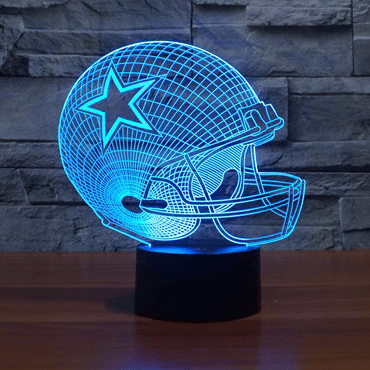 Dallas Cowboys NFL 3D LED Lamp LEDMiracles