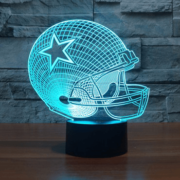 Image of Dallas Cowboys NFL 3D LED Lamp LEDMiracles