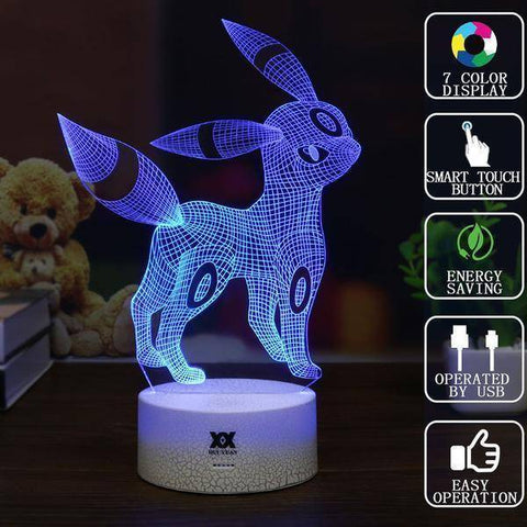 Umbreon Pokemon 3D LED Lamp