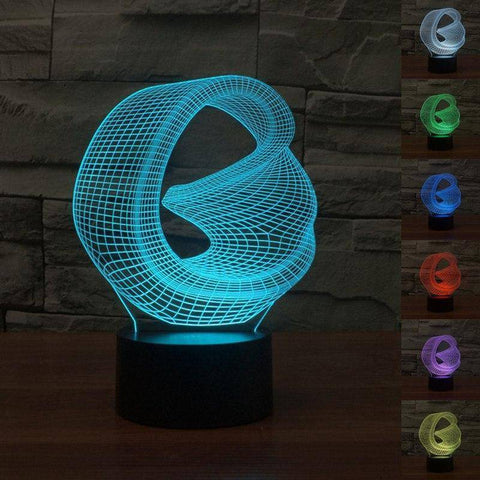 Image of Abstract Art 3D LED Lamp LEDMiracles