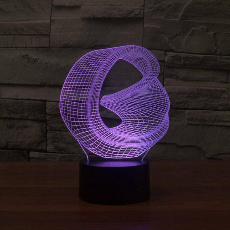 Abstract Art 3D LED Lamp