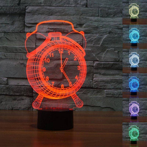 Image of Alarm Clock 3D LED Lamp LEDMiracles