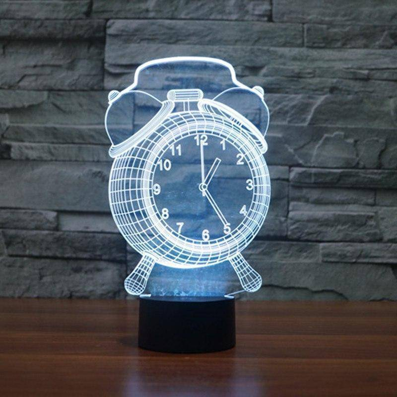 Alarm Clock 3D LED Lamp LEDMiracles