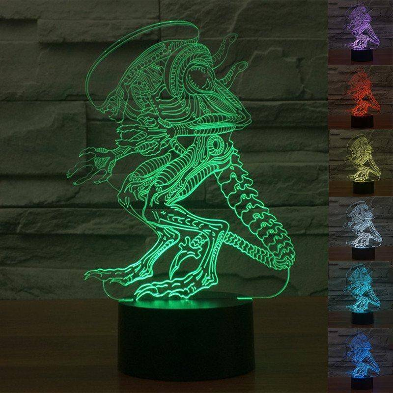 Aliens 3D LED Lamp