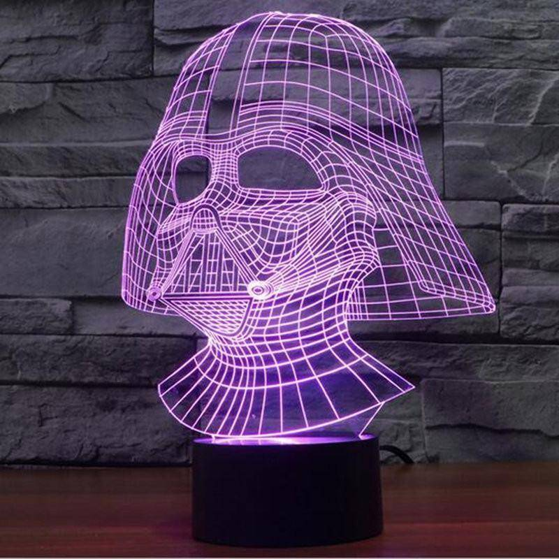 Anakin Skywalker Darth Vader Star Wars 3d Led Lamp Ledmiracles